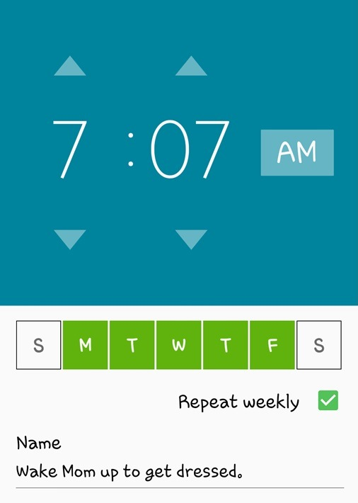 New Alarm for Mom 4.11.17